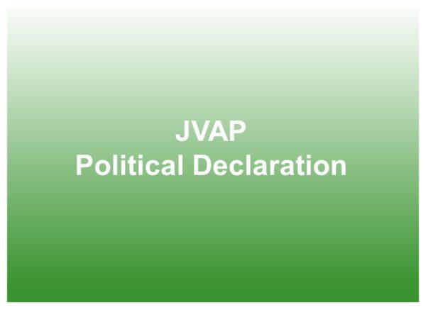 JVAP political declaration